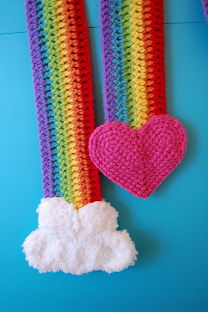 Crochet a Rainbow for St Patricks Day free patterns