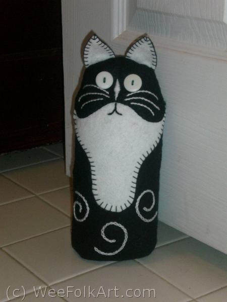 Cat Toy Free Sewing Pattern Cat Bean Bag Door Stop Or Toy