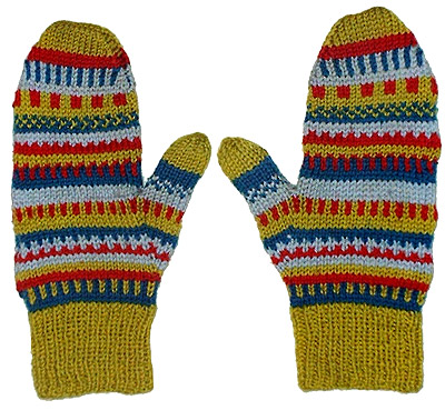 Easy Two Needle Knit Mittens for the Whole Family - free ...