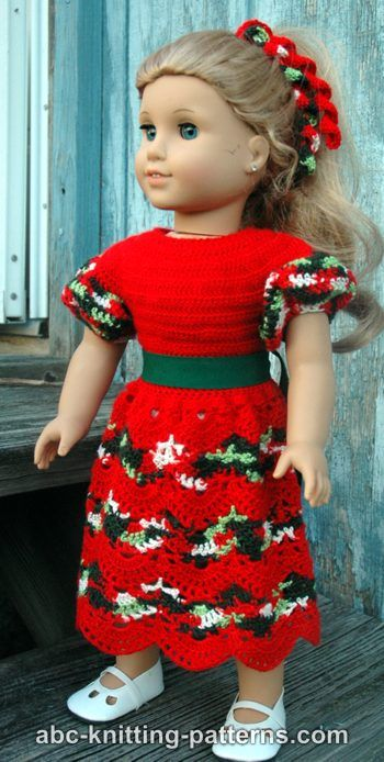 Free Crochet Pattern For Christmas Dress : Crochet Christmas Dolls and Bears ? free patterns ...